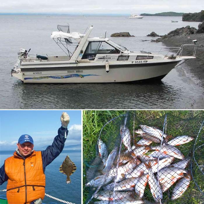 катер для рыбалки дома