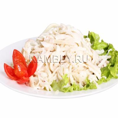 Салат с кальмарами и майонезом калорийность
