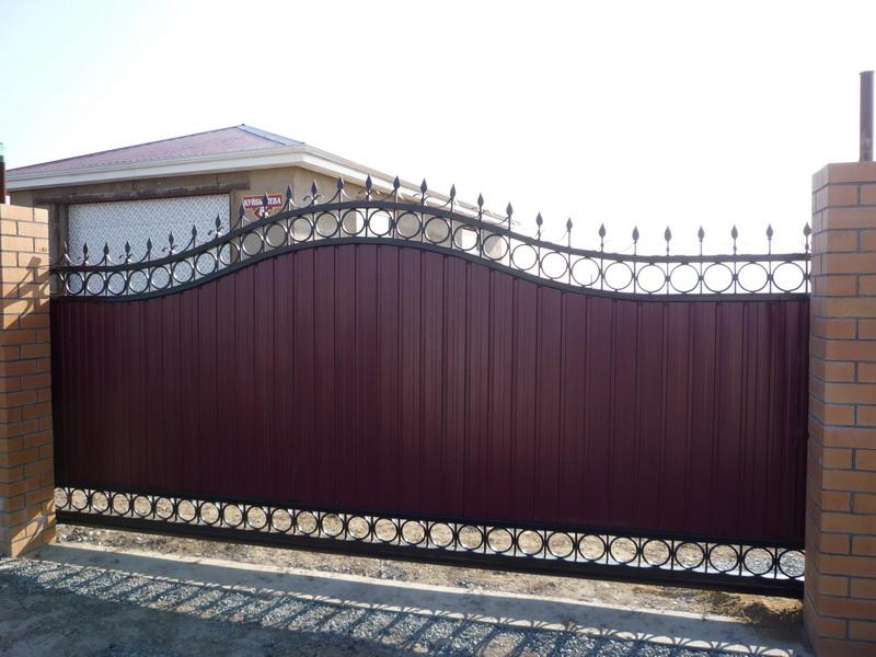 Откатные ворота г находка дворовые ворота с калиткой