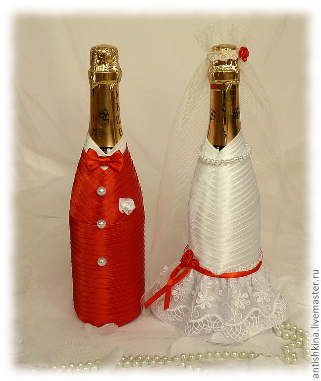 Декор бутылок шампанского своими руками мастер класс 84
