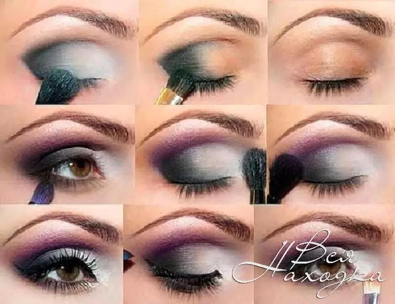макияж для карих глаз выразительный фото