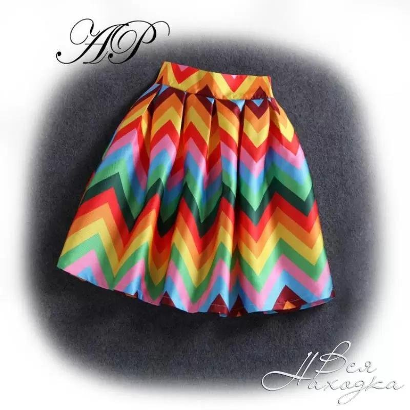 цветная юбка с чем носить фото