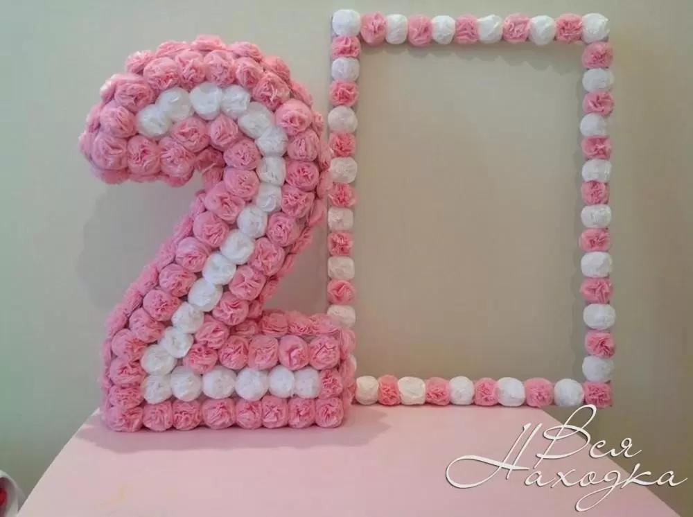 Как сделать цифру 3 на день рождения своими руками из картона