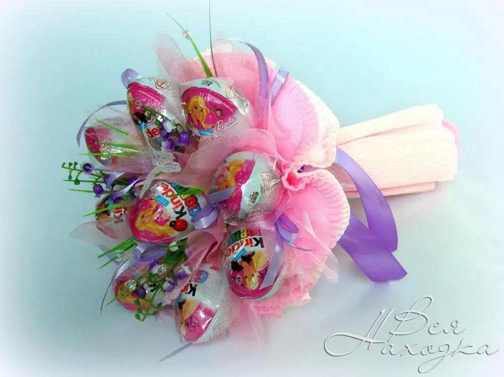 Букет из конфет своими руками для ребенка