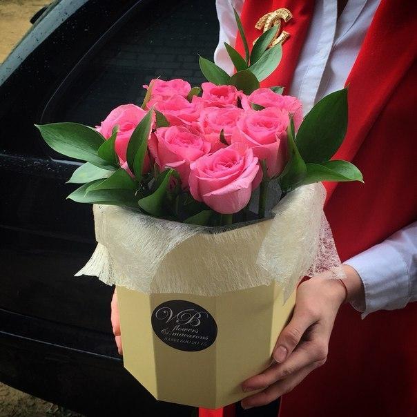 Букет из роз в коробке своими руками 82