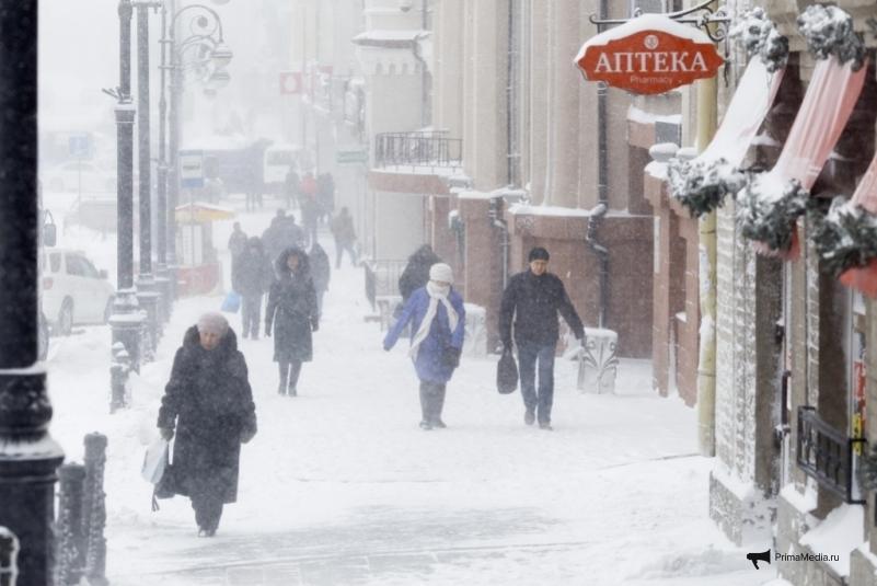 Опять метель: в Приморье ожидается резкое ухудшение погоды в конце недели