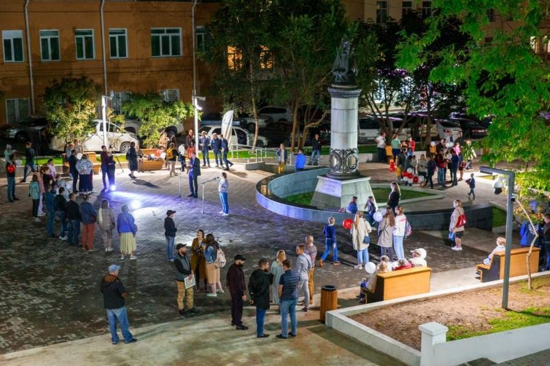 Жариковский сквер презентовали жителям Владивостока