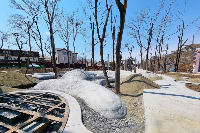 Нагорный парк во Владивостоке: дорожки, детская площадка и открытие ко Дню города