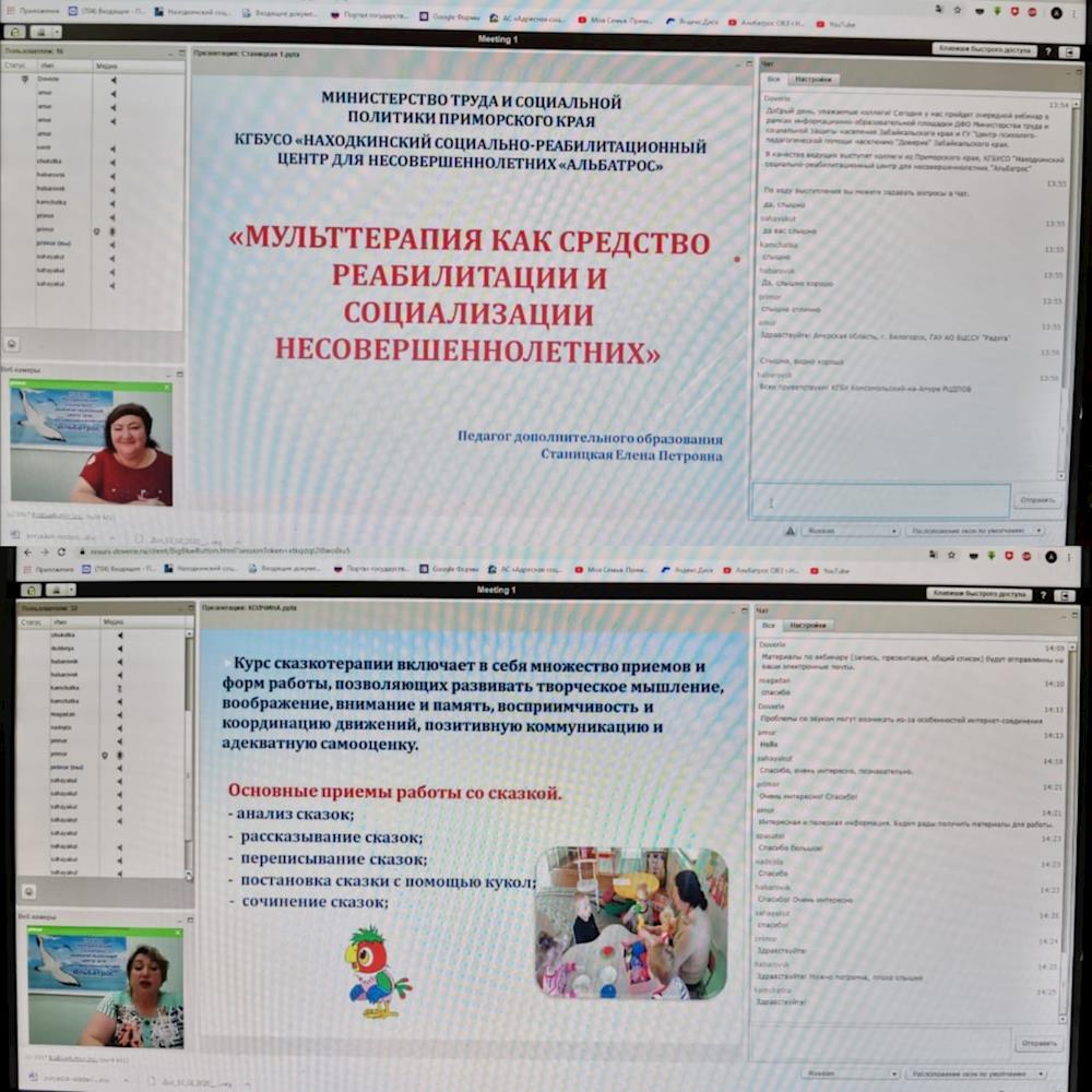 Реабилитационный центр «Альбатрос» поделился опытом работы с коллегами из других субъектов ДФО